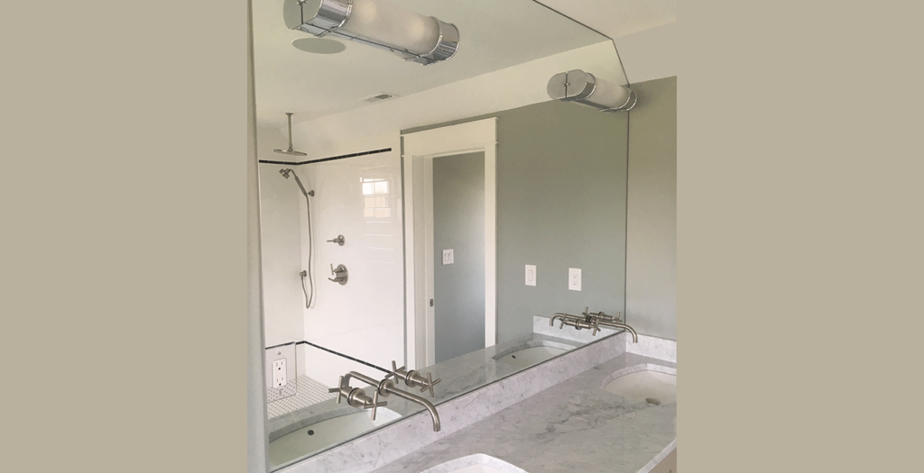 Full Wall Commercial Mirrors Length Beveled