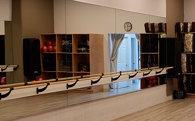 Yoga Studio Custom Wall Mirrors | Tuck & Barre Yoga | West Philadelphia, PA