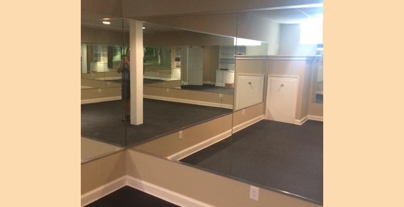 Home Gym Mirrored Walls | Princeton, NJ